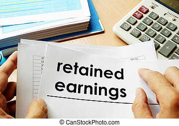 earnings., papeis, retained, título