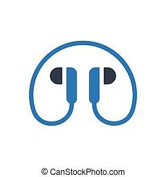 earphone  glyph color icon