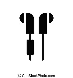 earphone glyph flat icon