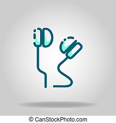 earphone icon or logo in  twotone - Logo or symbol of ...