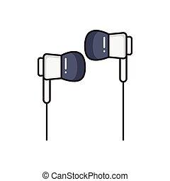 earphone line flat icon
