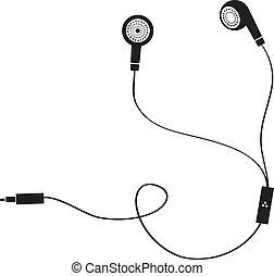 earphone symbol on white background