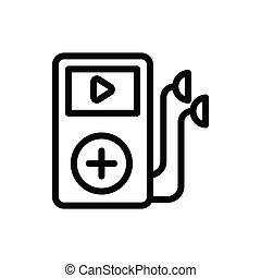 earphone  thin line icon