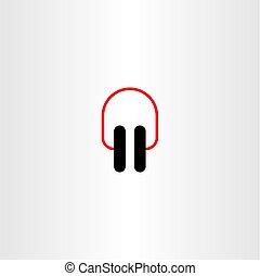 earphones icon vector symbol design