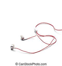 earphones isolated on white background