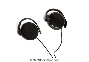 earphones isolated on white