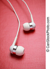 earphones - special toned, music concept, selective focus on...