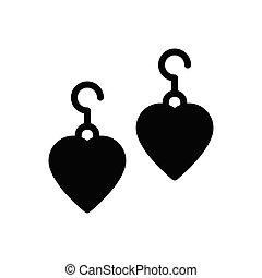 earring - earing  glyph flat icon