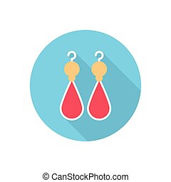 earring  flat color icon