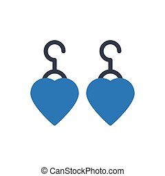 earring  glyph color icon