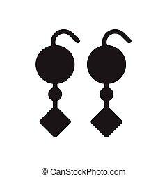 earring glyph flat icon