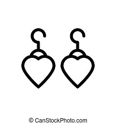 earring  thin line icon
