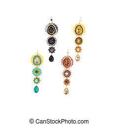 earrings bijouterie isolated over white background