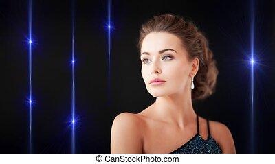 earrings, kobieta, diament, wspaniały