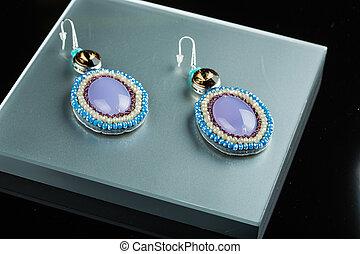 earrings on black