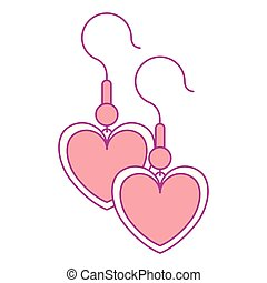 earrings with heart shape