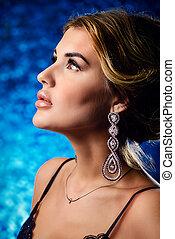 earrings, z, dzwonek