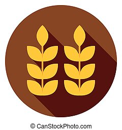 Ears of Wheat Circle Icon