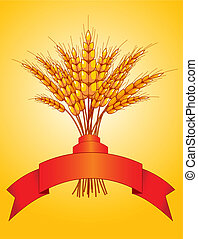 Ears of wheat - Illustration desing of ears of wheat on...