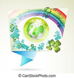eart, astratto, sfondo verde