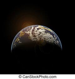 Earth - 3D Illustration : Environment. Global Warming