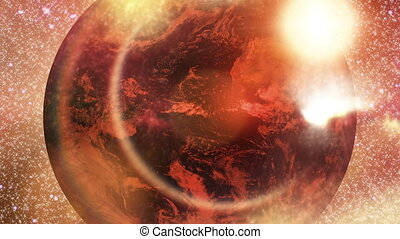 Earth - abstract - Animation on Space - Earth - abstract