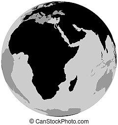 Earth Africa - Globe