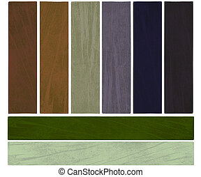 Earth and growth color textured banner set