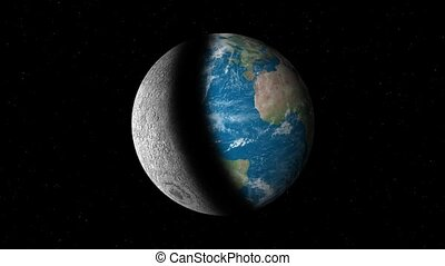 Earth and moon forever changing