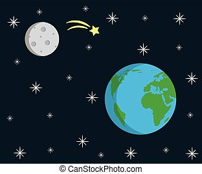 Earth and Moon Clip Art