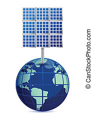 Earth and solar panels