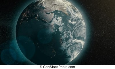 Earth Animation. Digital animation of the Earth. 3d earth move animation