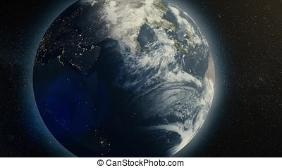 Earth Animation. Digital animation of the Earth. 3d earth...