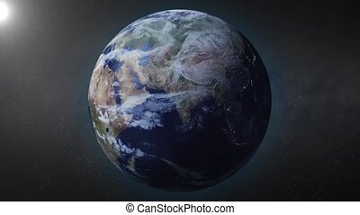 Earth animation zooms in on china