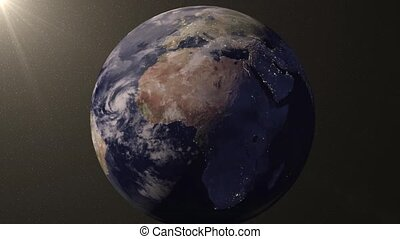 Earth animation zooms in on India
