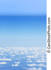 Bird�s eye view of clouds and light blue earth atmosphere layers