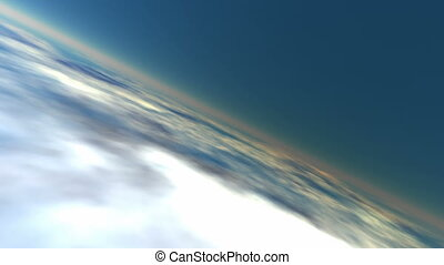 Earth atmosphere (seamless loop)