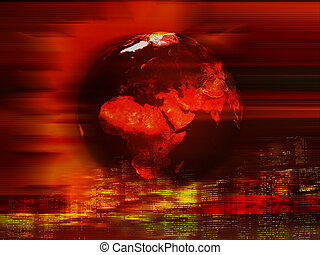 Earth background - Abstract Earth planet background