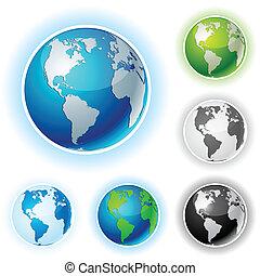 Earth balls - America.