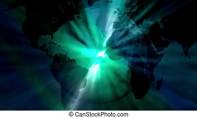 Earth Blue Green Abstract loop