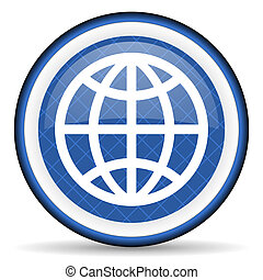 earth blue icon