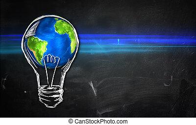 Earth Bulb dark Background