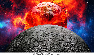 Earth burning or exploding. - Earth burning or exploding ...