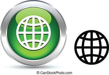 Earth  button.