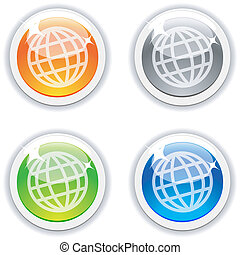 Earth buttons.