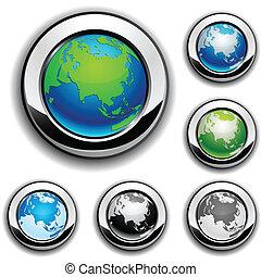 Earth buttons - Eurasia.