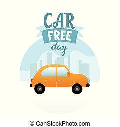 Earth Car free day banner