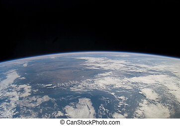 Earth - Close up of planet with blue atmosphere