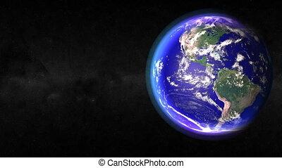 Earth Closeup. CG. hd
