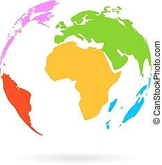 Earth color icon